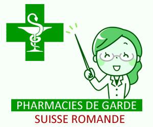 Pharmacies de garde a Romandie